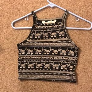 Cropped elephant tank top